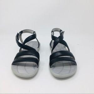 clarks cloudsteppers black sandals womens 6.5